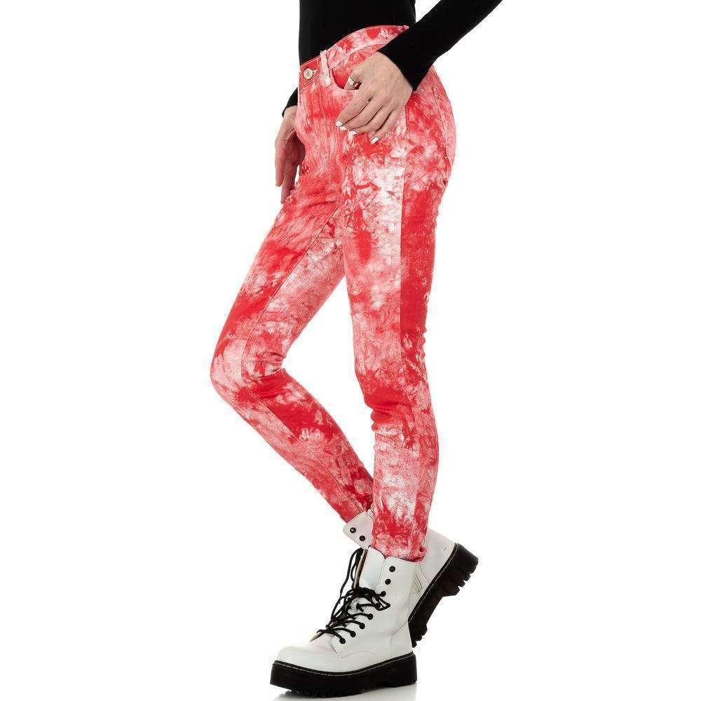 Blugi skinny pentru femei de la Redial Denim Paris - roșu - image 2
