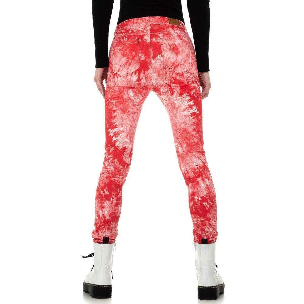 Blugi skinny pentru femei de la Redial Denim Paris - roșu - image 3