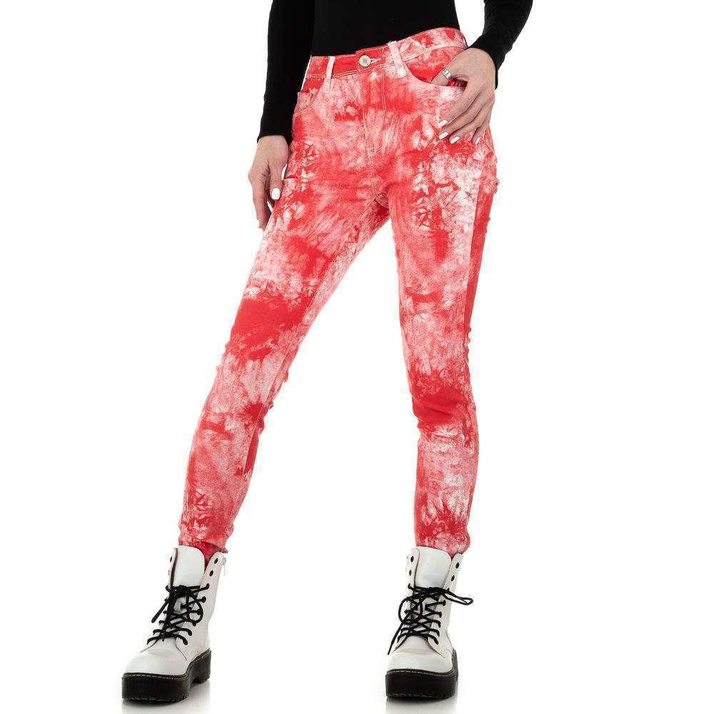 Blugi skinny pentru femei de la Redial Denim Paris - roșu - image 5