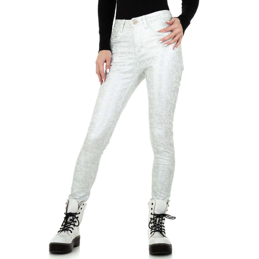 Pantaloni skinny pentru femei de la Redial Denim Paris - argintiu
