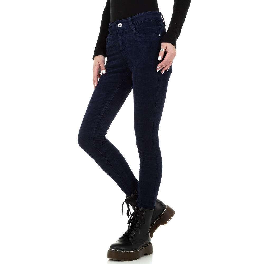 Blugi skinny pentru femei de la Redial Denim Paris - albastru închis - image 2