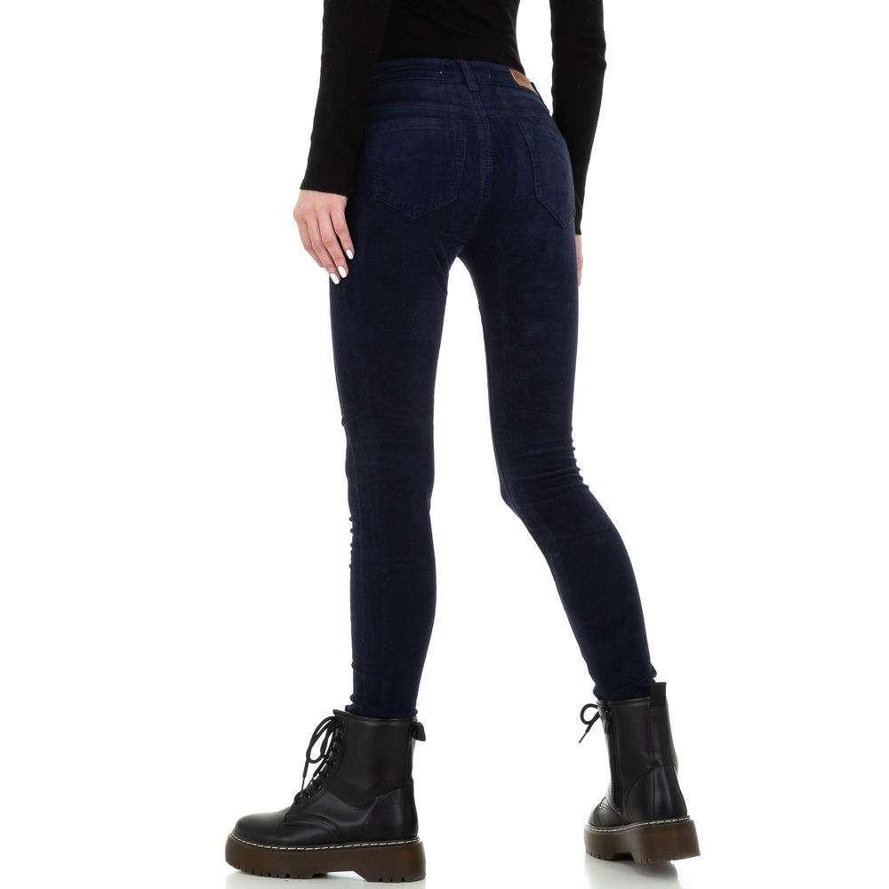 Blugi skinny pentru femei de la Redial Denim Paris - albastru închis - image 3