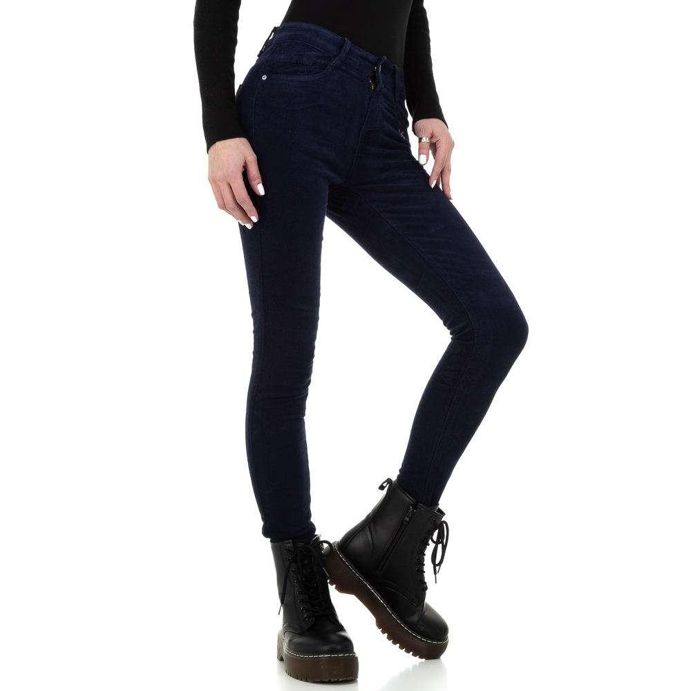 Blugi skinny pentru femei de la Redial Denim Paris - albastru închis - image 5