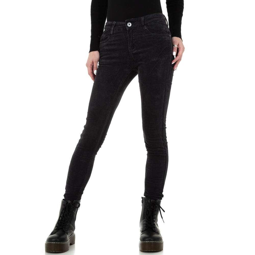 Blugi skinny pentru femei de la Redial Denim Paris - gri inchis - image 1