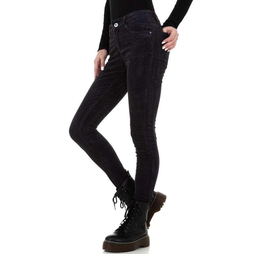 Blugi skinny pentru femei de la Redial Denim Paris - gri inchis - image 2