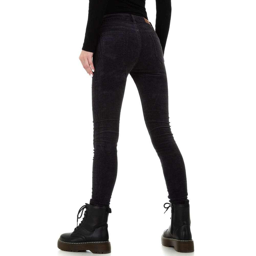 Blugi skinny pentru femei de la Redial Denim Paris - gri inchis - image 3
