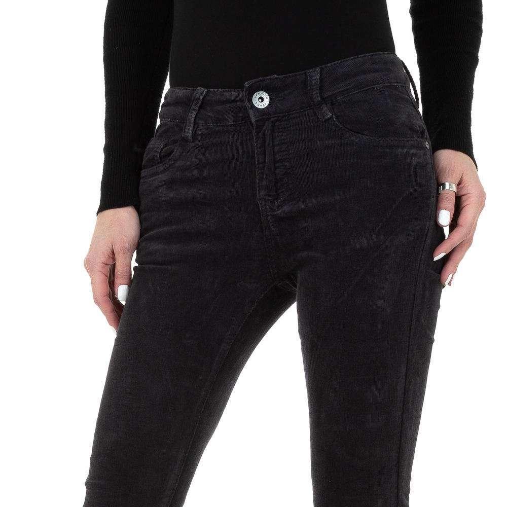 Blugi skinny pentru femei de la Redial Denim Paris - gri inchis - image 4