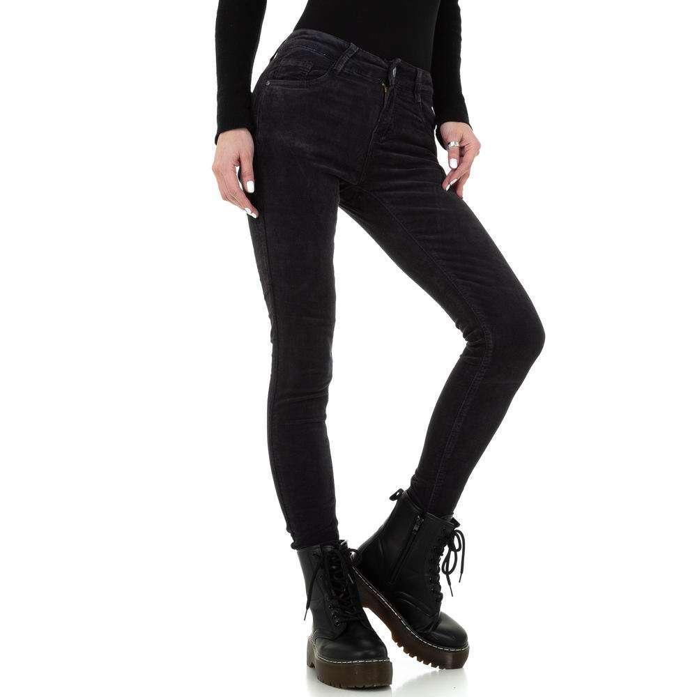 Blugi skinny pentru femei de la Redial Denim Paris - gri inchis - image 5