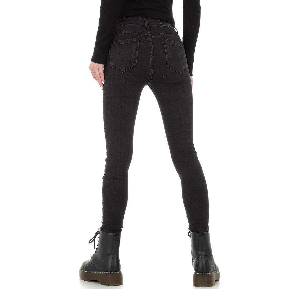 Blugi skinny pentru femei de la Redial Denim Paris - negru - image 3