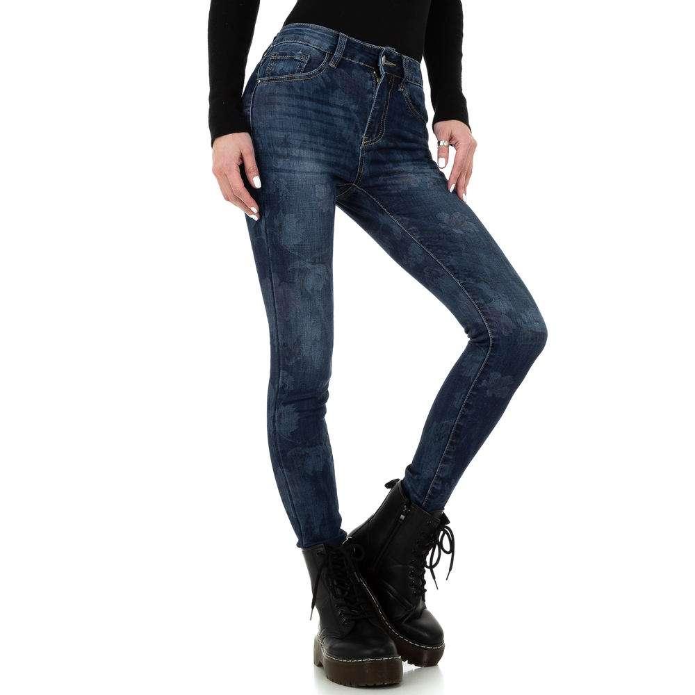 Blugi skinny pentru femei de la Redial Denim Paris - albastru - image 5