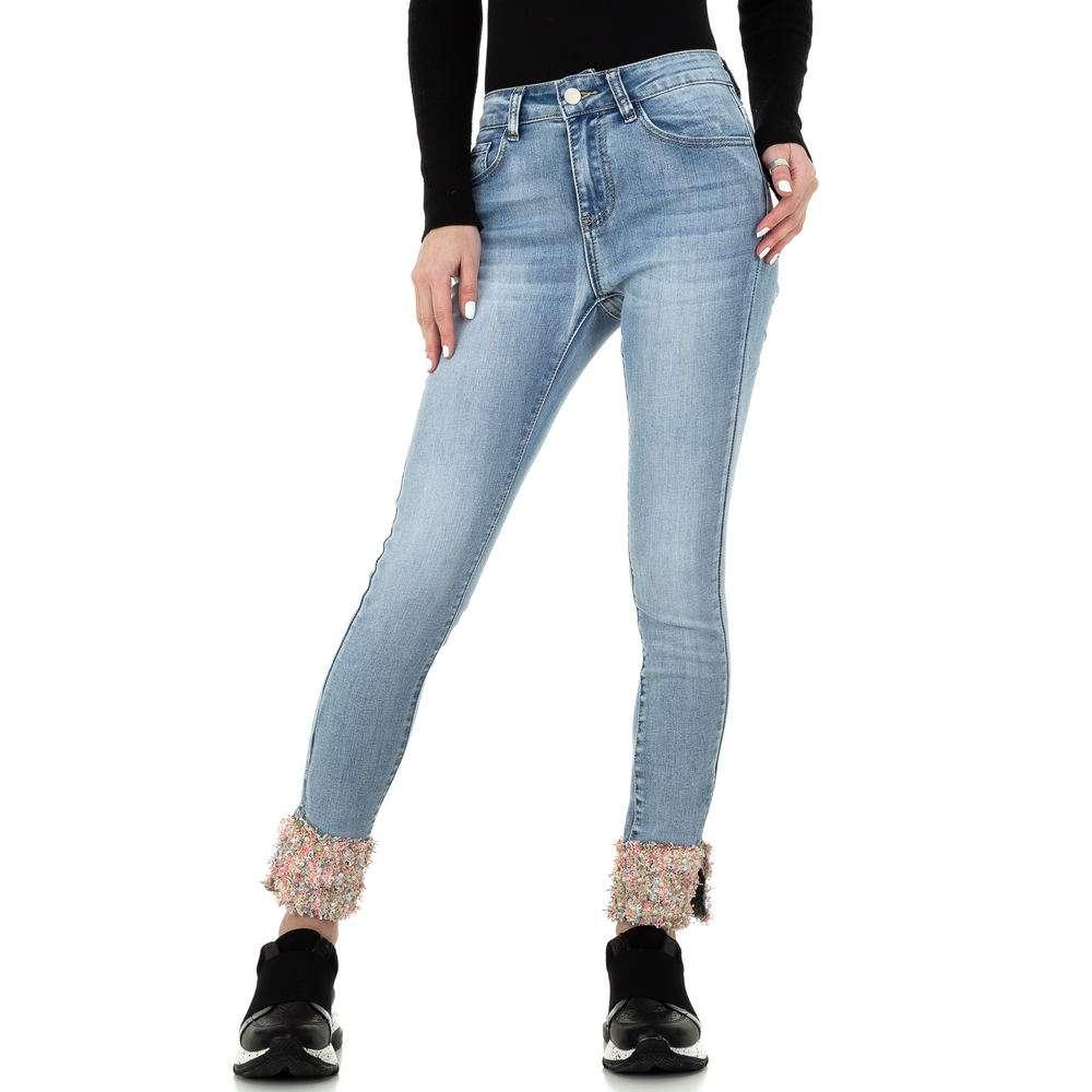 Blugi skinny pentru femei de la Redial Denim Paris - deschis albastră - image 5