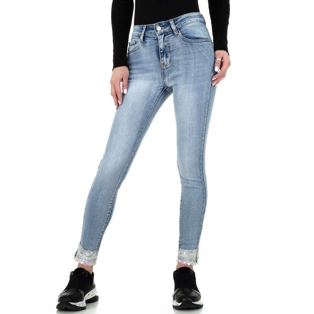 Blugi skinny pentru femei de la Redial Denim Paris - deschis albastră - image 1