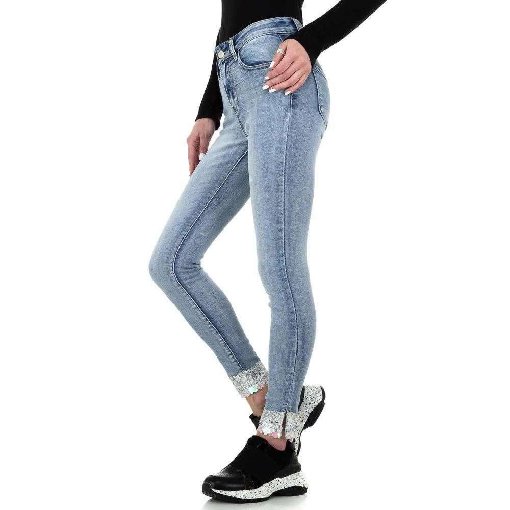Blugi skinny pentru femei de la Redial Denim Paris - deschis albastră - image 2