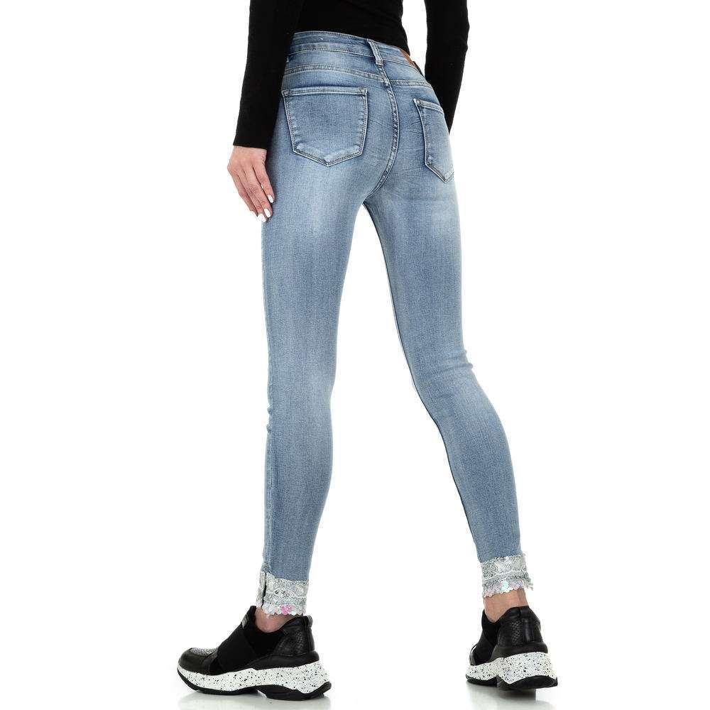 Blugi skinny pentru femei de la Redial Denim Paris - deschis albastră - image 3