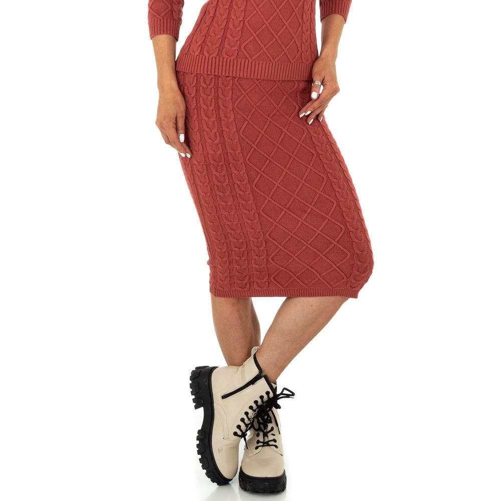 Fustă elastică pentru femei de la Glo storye - roșie
