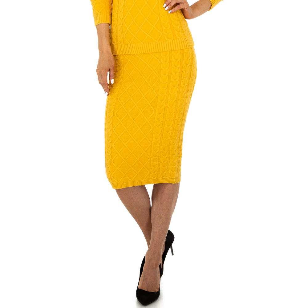 Fustă elastică pentru femei de la Glo storye - galbenă