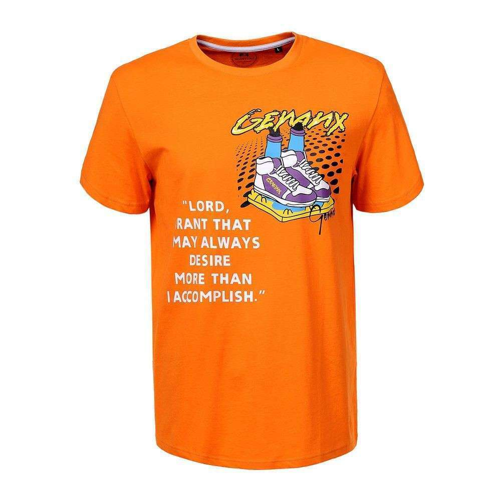 Tricou bărbătesc marca Glo storye - portocaliu