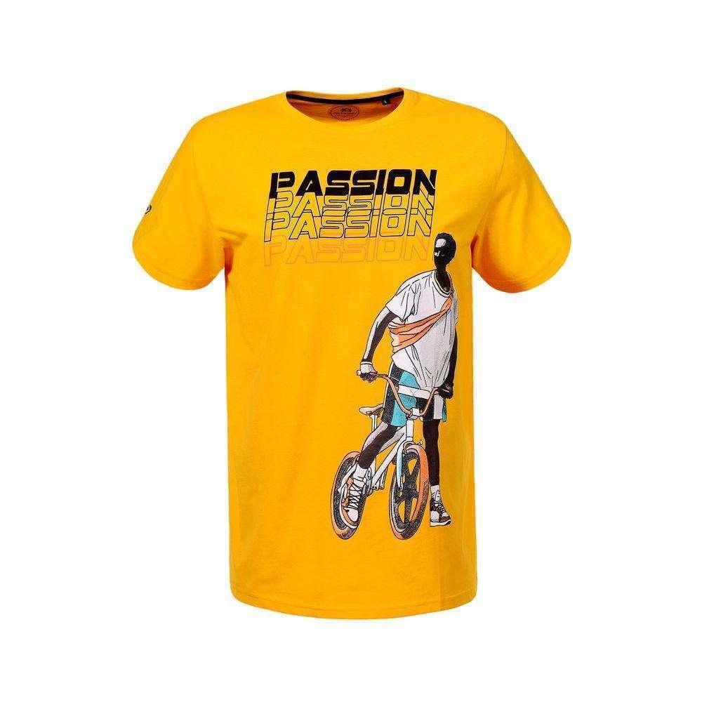 Herren T-shirt von Glo Story - yellow