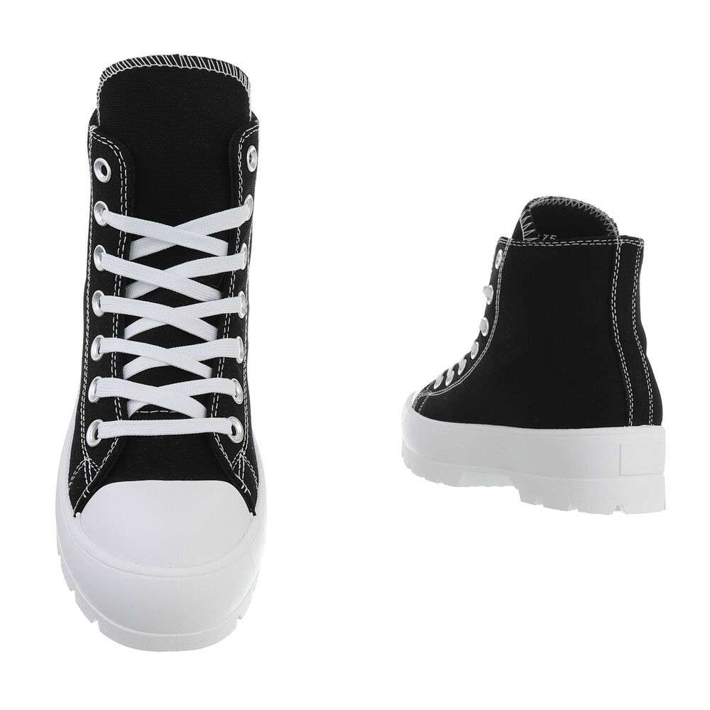 Pantofi sport înalți pentru femei - negri - image 3