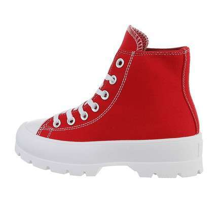 Damen High-Sneakers - red