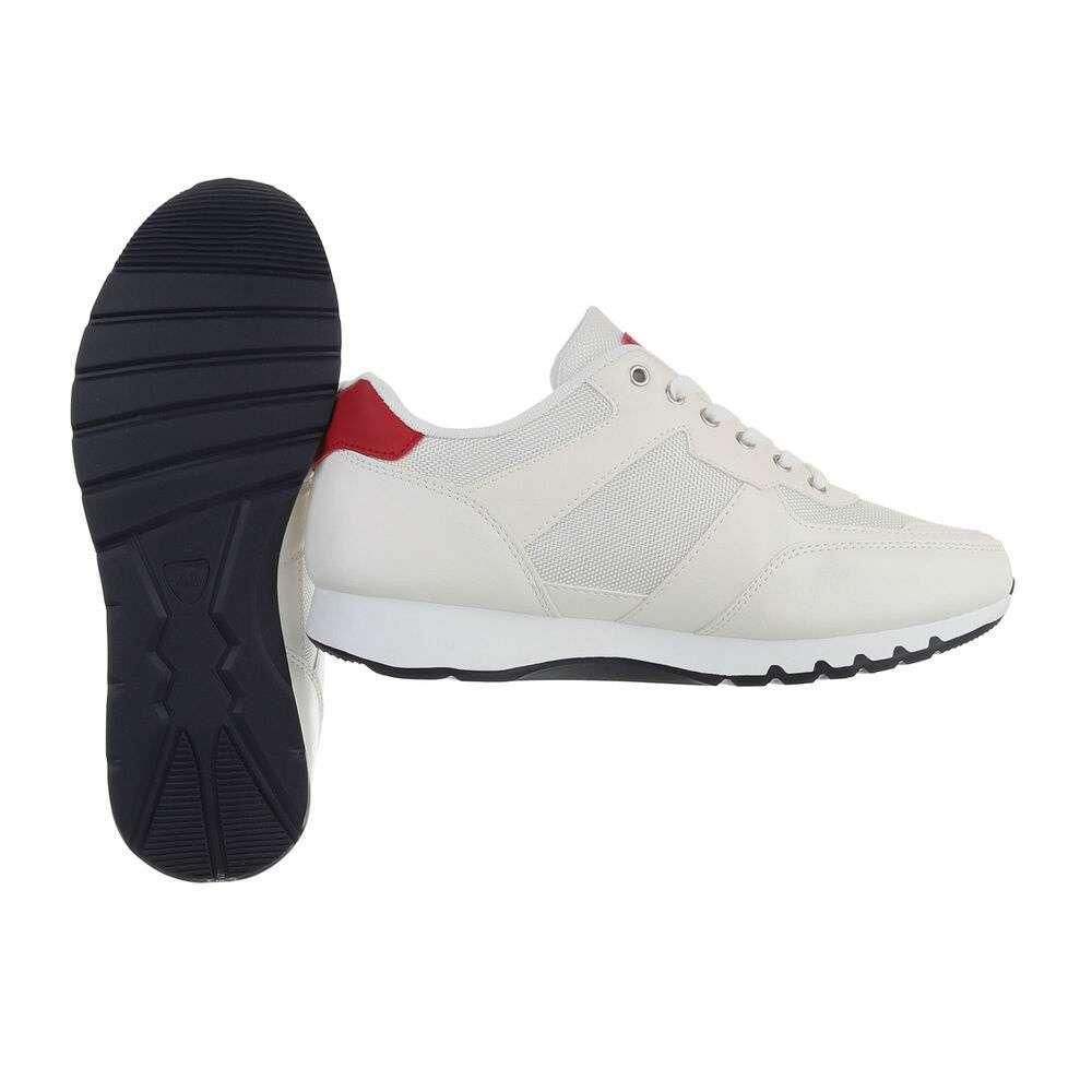 Pantofi casual pentru bărbați - albi - image 2
