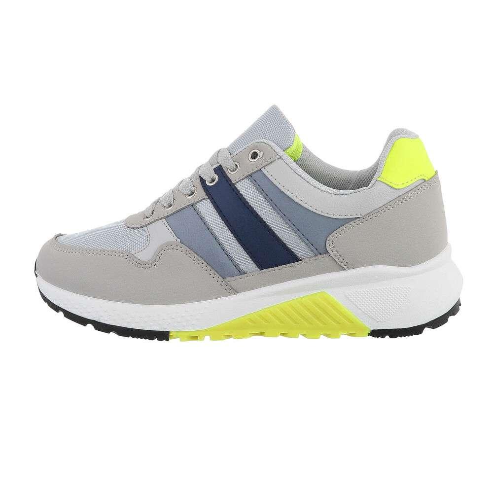 Pantofi casual pentru bărbați - gri-galben