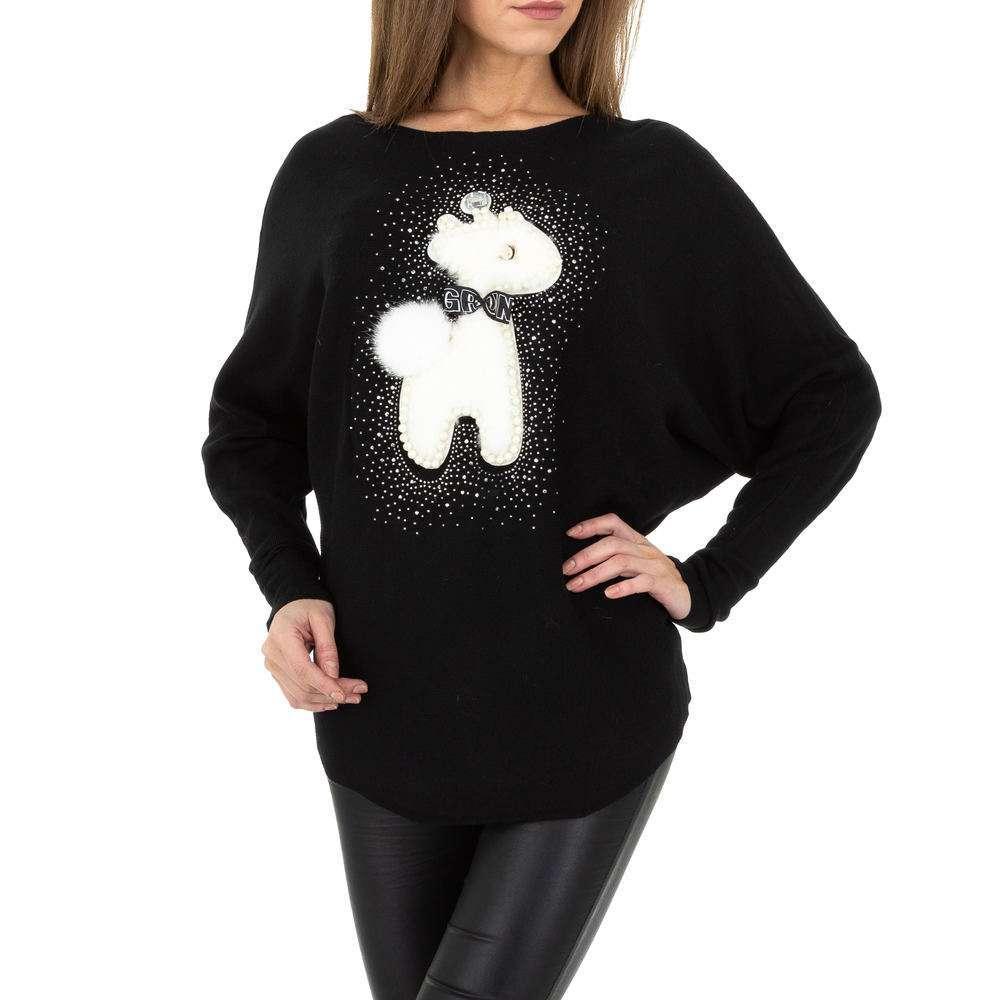 Pulover tricotat pentru femei de la Whoo Fashion Gr. O singură mărime - negru