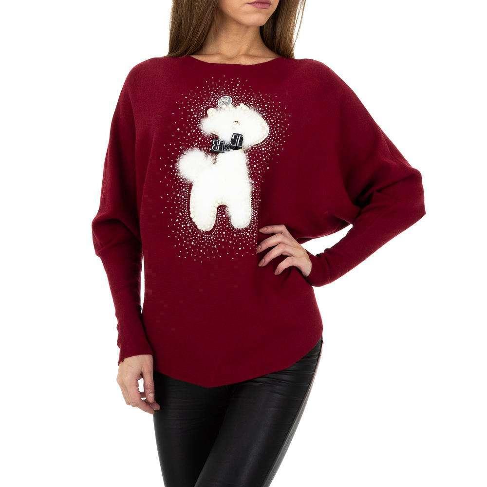 Pulover tricotat pentru femei de la Whoo Fashion Gr. O singură mărime - DK.red