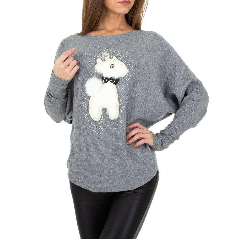 Pulover tricotat pentru damă. O singură mărime - gri