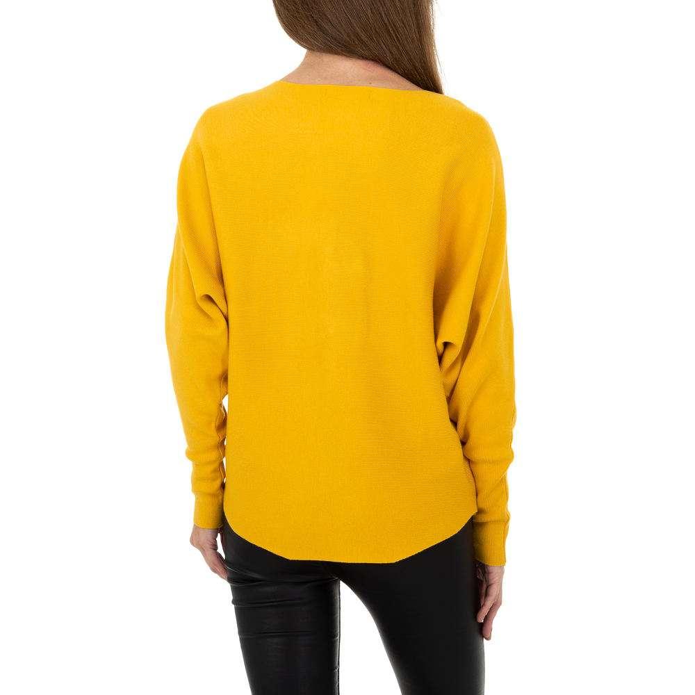 Pulover tricotat pentru femei de la Whoo Fashion Gr. O mărime - galben - image 3