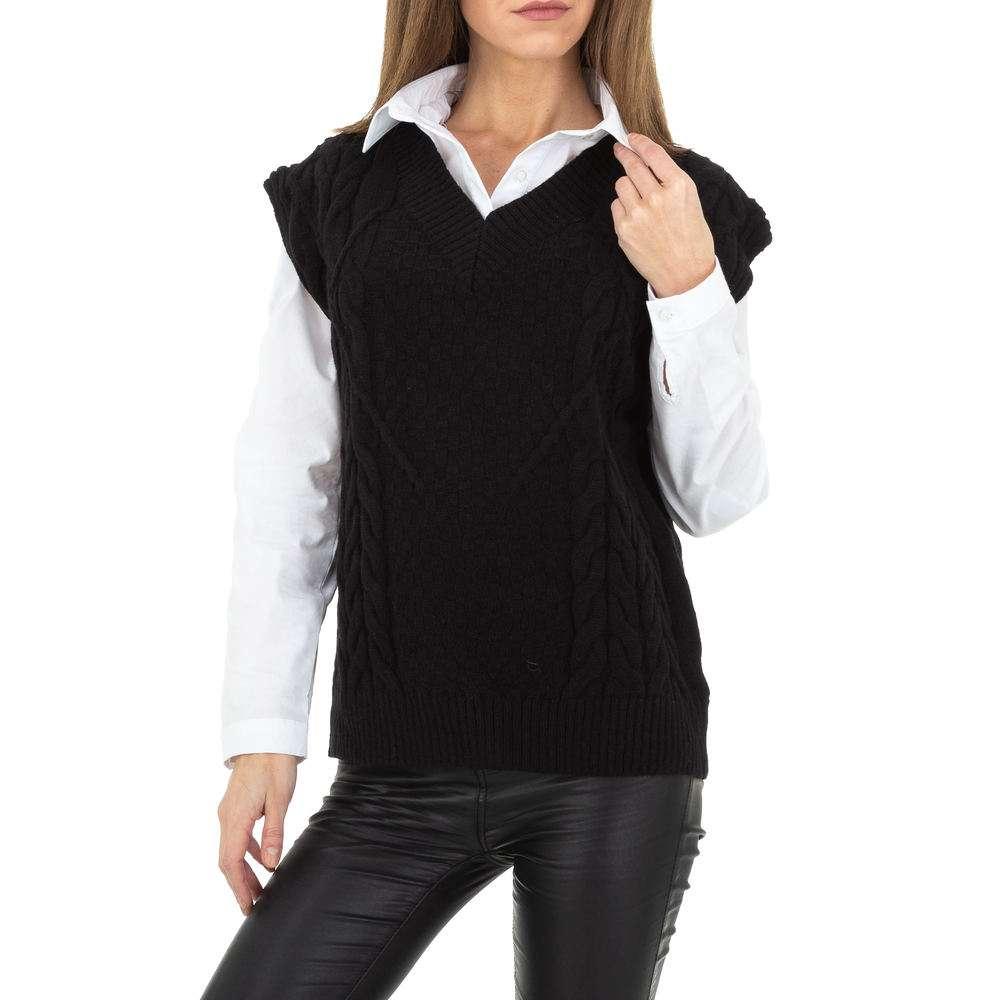 Pulover tricotat pentru femei de Shako White Icy Gr. O singură mărime - negru