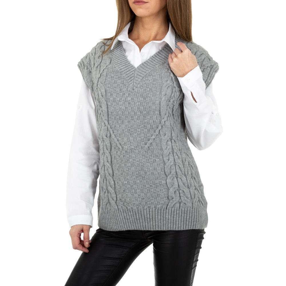 Pulover tricotat pentru femei de Shako White Icy Gr. O singură mărime - gri