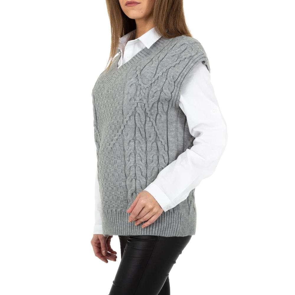 Pulover tricotat pentru femei de Shako White Icy Gr. O singură mărime - gri - image 2