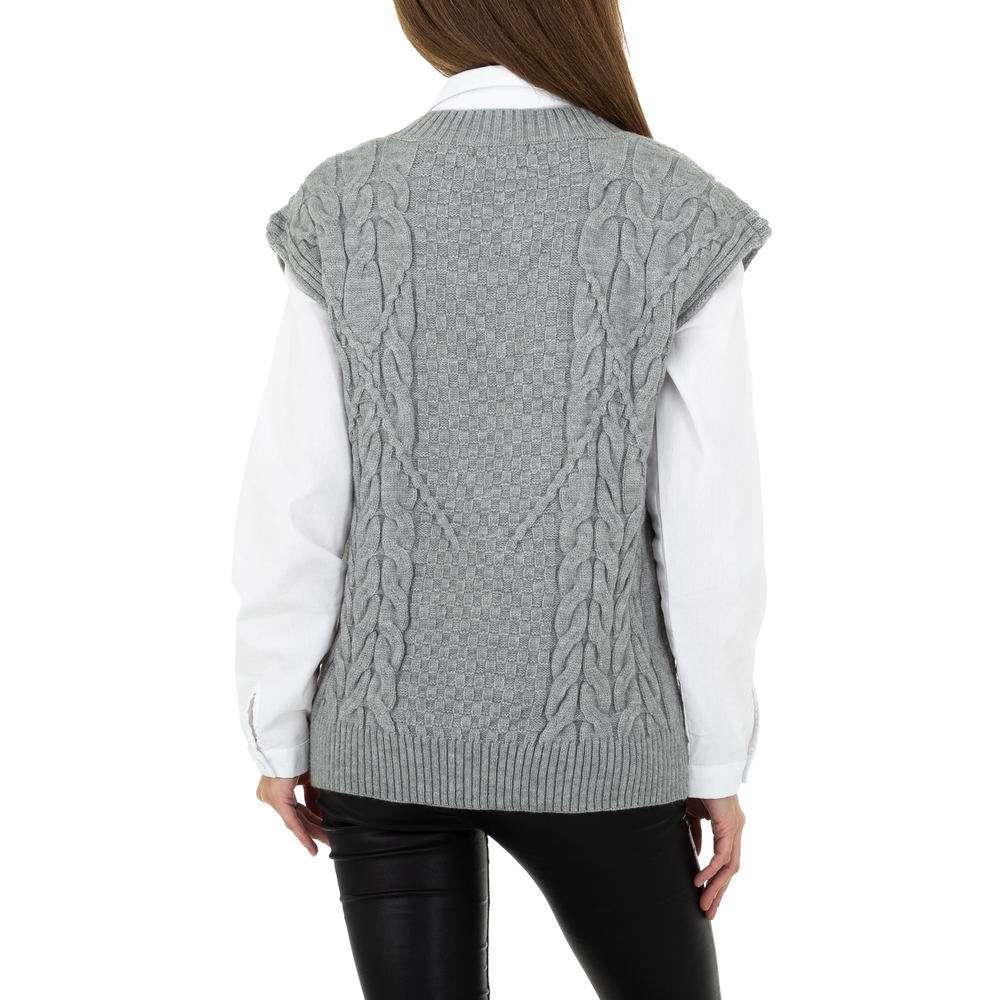 Pulover tricotat pentru femei de Shako White Icy Gr. O singură mărime - gri - image 3