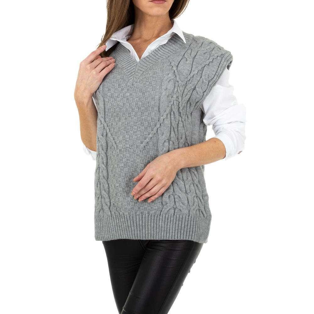 Pulover tricotat pentru femei de Shako White Icy Gr. O singură mărime - gri - image 4