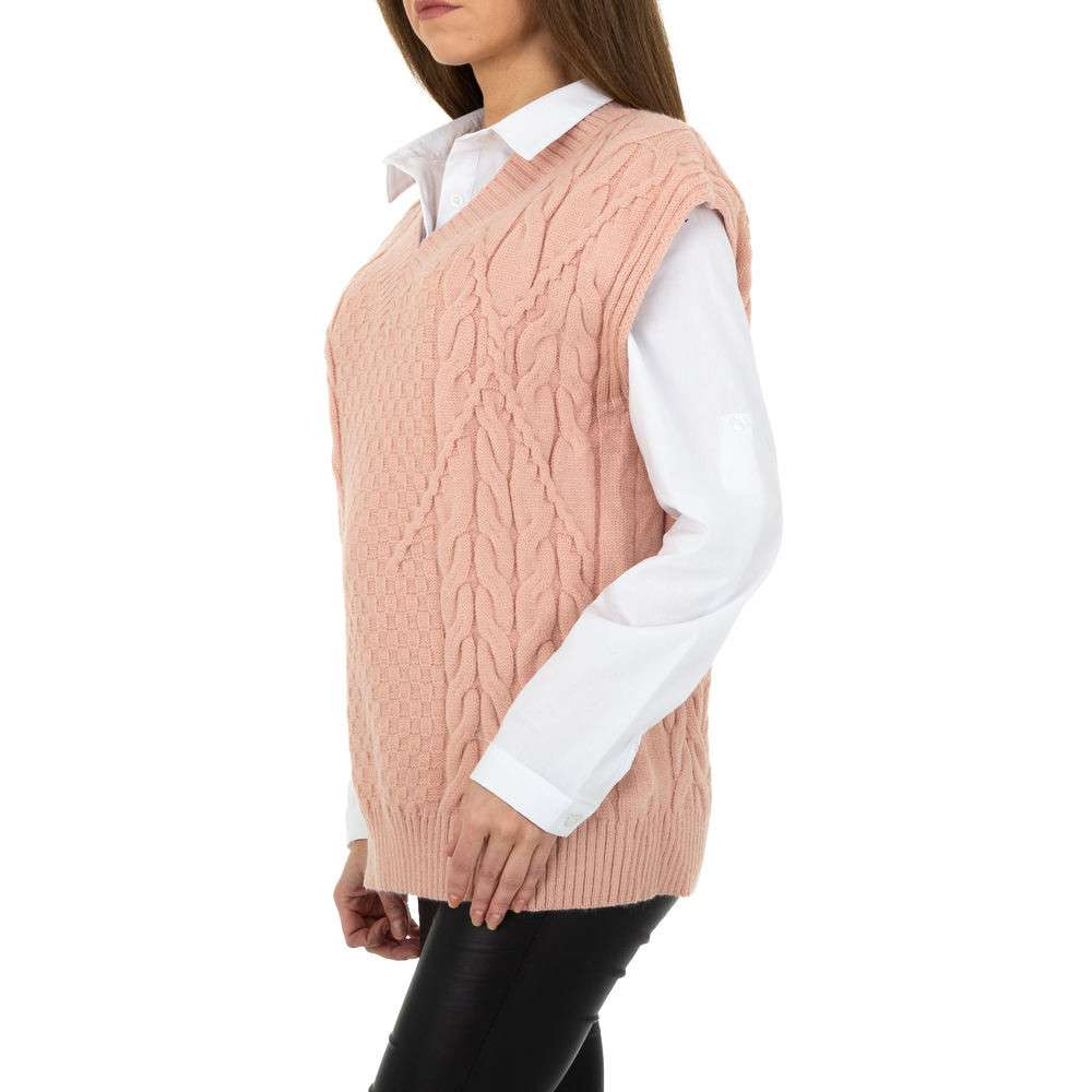 Pulover tricotat pentru femei de Shako White Icy Gr. O mărime - trandafir - image 2