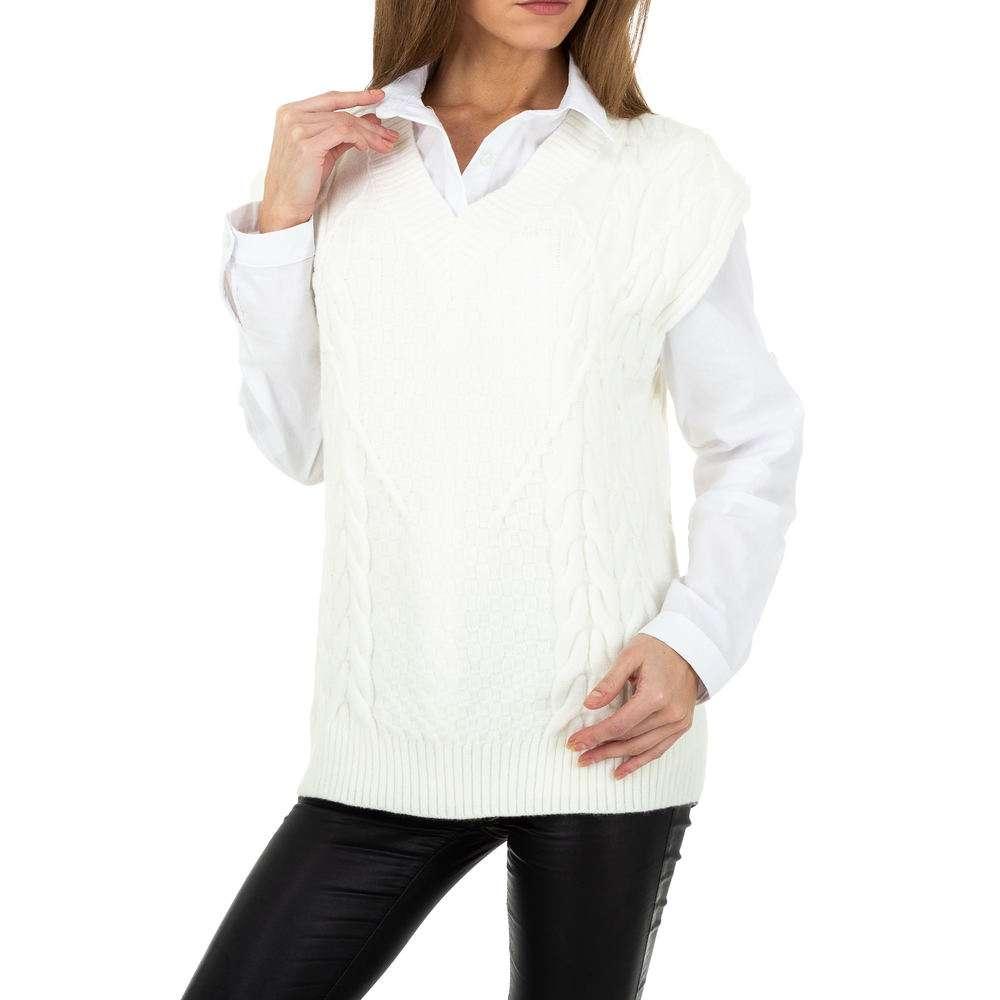 Pulover tricotat pentru femei de Shako White Icy Gr. O singură mărime - alb