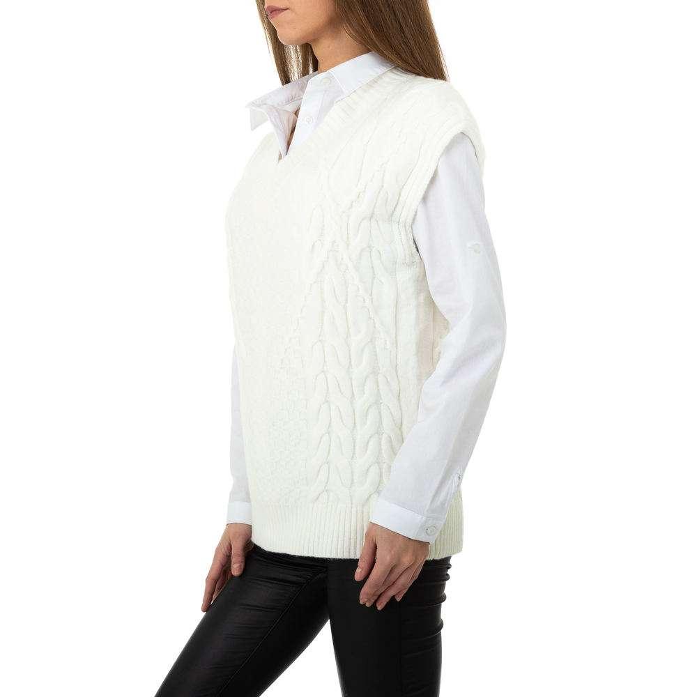 Pulover tricotat pentru femei de Shako White Icy Gr. O singură mărime - alb - image 2