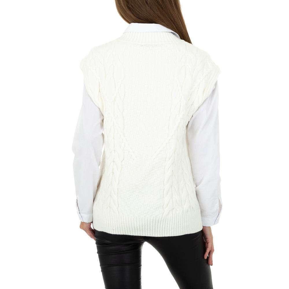 Pulover tricotat pentru femei de Shako White Icy Gr. O singură mărime - alb - image 3