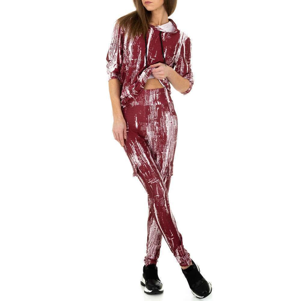 Costum de jogging și agrement pentru femei de Holala Fashion - roșu - image 5