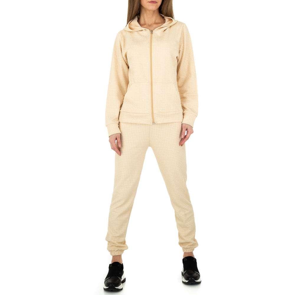 Costum de jogging și agrement pentru femei de Holala Fashion - crem