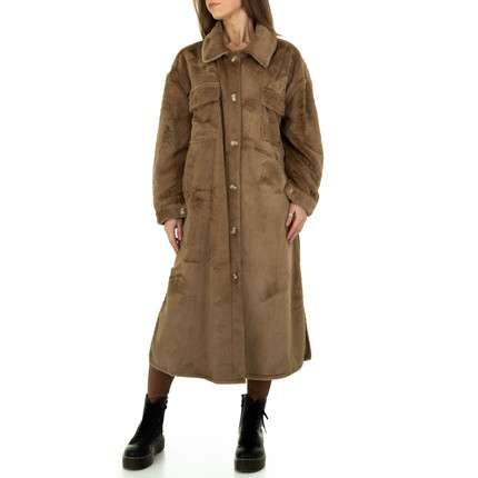 Damen Wintermantel von JCL Gr. One Size - taupe