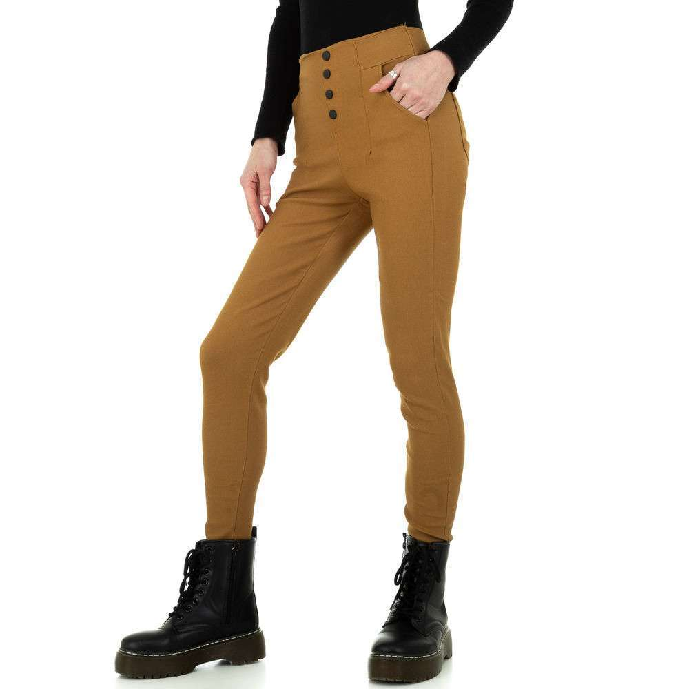 Pantaloni skinny pentru femei de Holala Fashion - cămilă