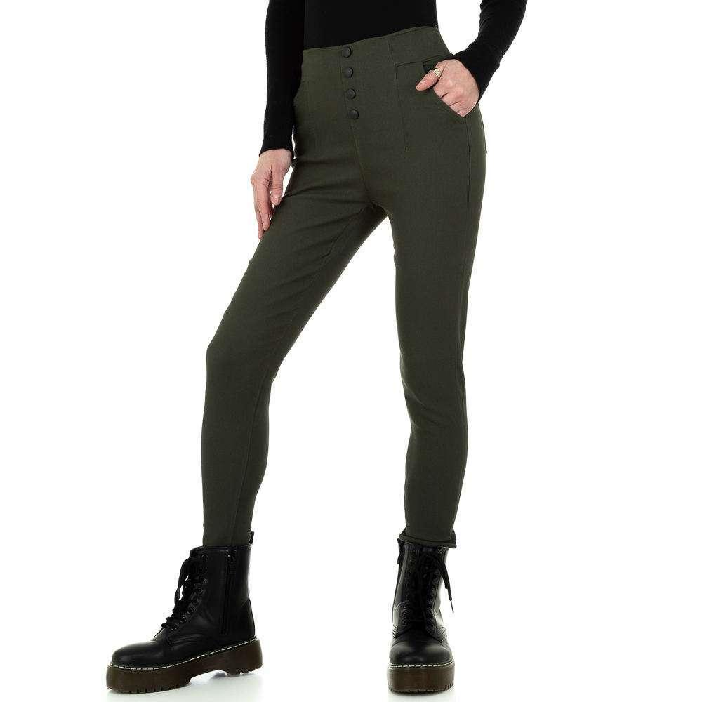 Pantalon skinny femme Holala Fashion - kaki
