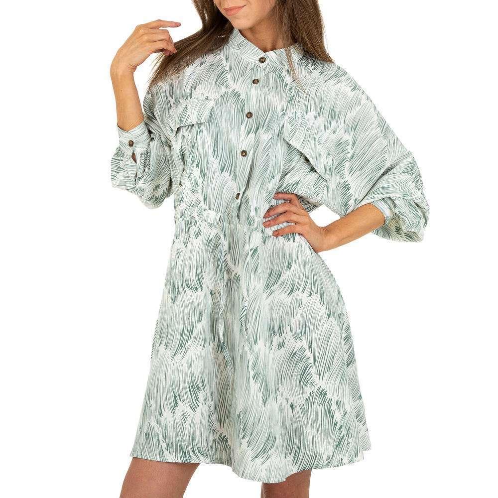 Rochie de bluză pentru femei de JCL - verde