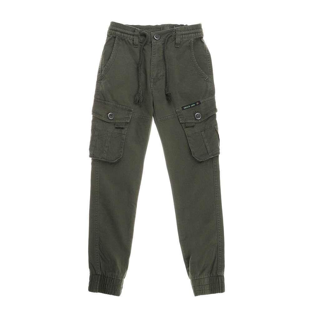 Pantaloni pentru băieți de la Egret - kaki