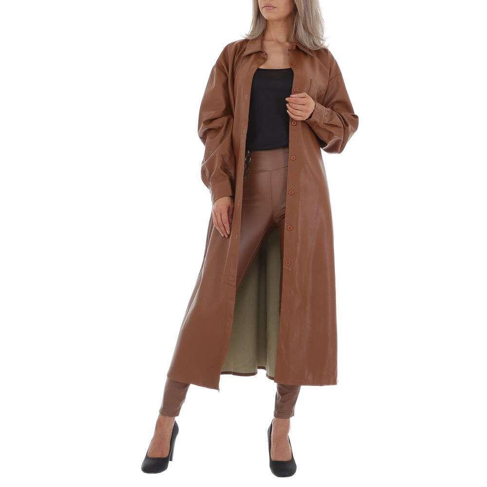 Palton scurt pentru femei by JCL Gr. O mărime - maro