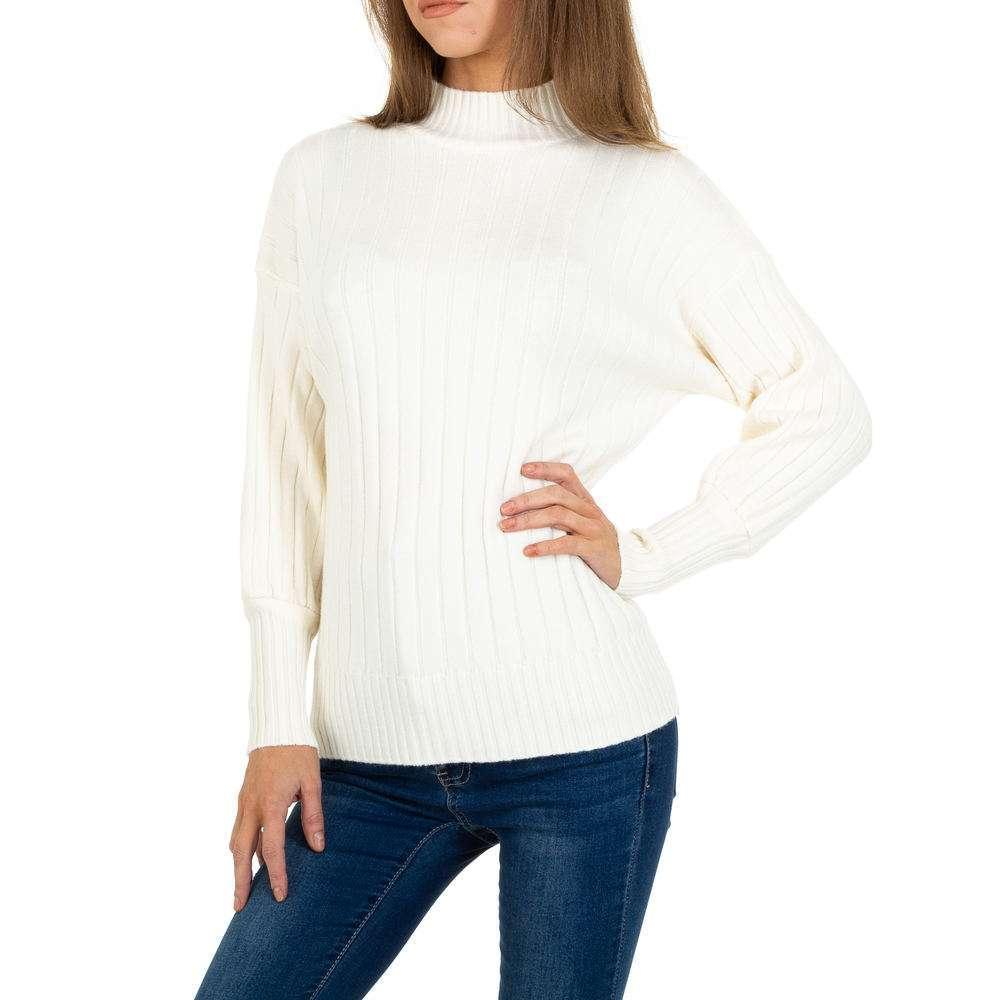 Pulover tricotat pentru femei de JCL Gr. O mărime - alb murdar