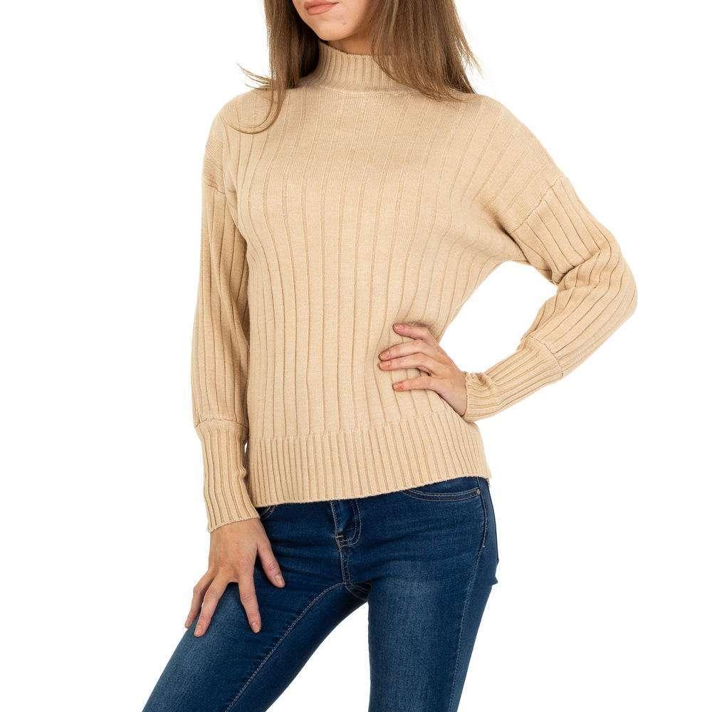 Pulover tricotat pentru femei de JCL Gr. O singură mărime - bej