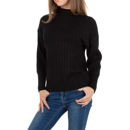 Damen Strickpullover von JCL Gr. One Size - black